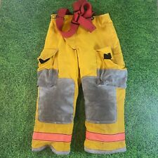 Globe Firefighters Suits Fire Turnout Pants Size 36x26 Breathe Tex Yellow