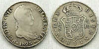 FERNANDO VII 4 REALES 1825 JB SEVILLA VF-/MBC- SILVER/PLATA 13,35 g. ALTA RAREZA
