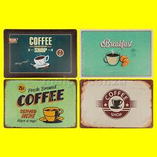 Set 4 Tovaglietta da tavola Coffee 44x29 cm 4 Disegni Sottopiatto Stile Vintage