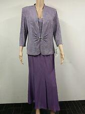 NEW - Alex Evenings - Size L - Three Quarter Lavender Evening Set - Purple $129