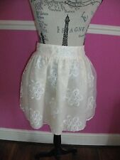 BNWT new RIVER ISLAND MILLY MIAMI CREAM FLORAL MINI SHORT SKATER SKIRT 14 look