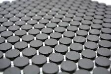 Mosaïque bouton céramique noir non vitré cuisine bain 10-0304-R10_b | 1 plaque