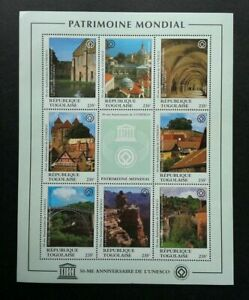 [SJ] Togo UNESCO 50th Anniversary 1995 Heritage Tourism (sheetlet) MNH