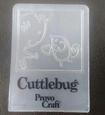 Cuttlebug Small Embossing Folder CAT & MOUSE fits Sizzix Big Shot