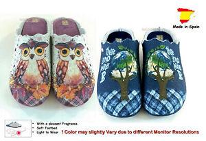Felt / Filz Ladies Slippers Slip-On Mules Clogs with Motif & pleasent Fragrance