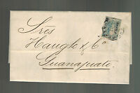 1868 Mexico Letter Cover to Guanjuato