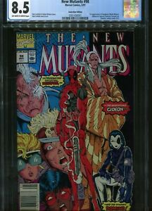 New Mutants#98 CGC 8.5 Australian Price Variant $1.50 Marvel Comics 5/91
