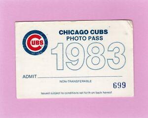 1983 Chicago Cubs Ferguson Jenkins Last GM/Last K Ticket Pass 2K/3192 Life
