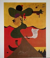 JOAN MIRO HAND SIGNED SIGNATURE*PORTRAIT OF MRS. MILLS IN 1750* LITHOGRAPH W/COA