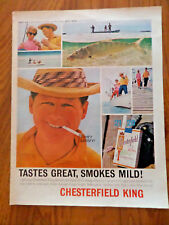 1963 Chesterfield Cigarette Ad  Bone Fishing at Grand Bahama Island