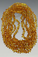 Lot of 10 Baby Children Genuine BALTIC AMBER Knotted Necklaces 48g 180117-7