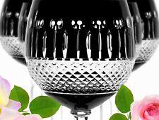 Wine Glasses Roman Lead Glass 6 Pieces (372OB S) Black Roman Crystal Wine Lens