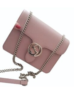 Gucci Interlocking Leather Crossbody Shoulder Bag