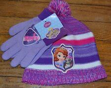 Disney Princess Sophia the First Winter hat & Matching Glove Set Girls OSFM