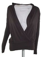 sisley maglia donna marrone stretch made italy taglia m / l medium large