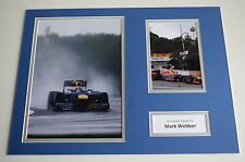 Mark Webber SIGNED autograph 16x12 photo display Formula 1 Racing AFTAL & COA