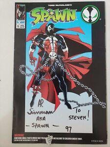 "SPAWN FIGURE #1 (1994) IMAGE COMICS AUTOGRAPHED by AL SIMMONS ""SPAWN"""