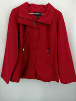 Dennis Basso Zip-Front Swing Jacket Cosmo Red S A346657