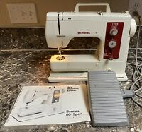 Bernina Sport 801 Sewing Machine Vintage With Foot Pedal Manual Tested Used