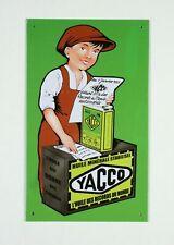 Plaque publicitaire, YACCO L'huile des records du monde