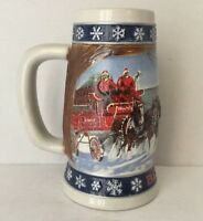 1995 BUDWEISER LIGHTING THE WAY HOME HOLIDAY BEER STEIN