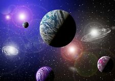 ALIEN PLANETS SOLAR SYSTEM SPACE COSMOS Photo Wallpaper Wall Mural 335x236cm
