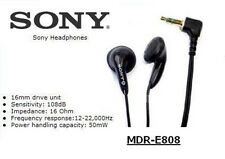 Classic Stereo SONY MDR-E808 Headphone Earphone Free Sponge For MP3