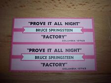 "2 Bruce Springsteen Prove It All Night / Factory Jukebox Title Strip CD 7"" 45RPM"