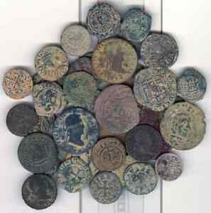Cincin 19,interesting lot of 39 Spanish coins from the Feodale to Borbon Dinasty