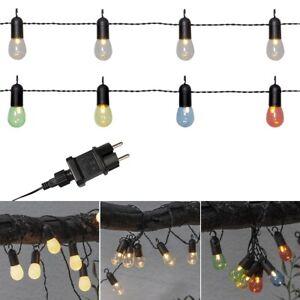 """LED Party Lichterkette """"HOOKY"""" mit 16 Birnchen 230V Netzteil für Außen Garten"""