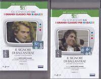 2 Dvd Sceneggiati Rai IL SIGNORE DI BALLANTRAE di Louis Stevenson completa 1979