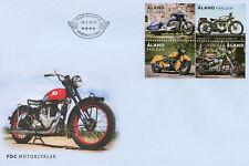 Aland 2018 FDC Motorcycles Harley Davidson 4v Block Cover Motoring Stamps