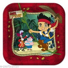 JAKE and the NEVER LAND PIRATES SMALL PLATES (8) ~ HTF Birthday Party Supplies