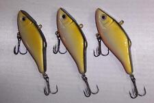 3pc FISHING LURES CRANKBAIT RATTLE BAIT TACKLE TREBLE HOOKS 11g 7.5cm FA19