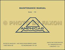 1961-1967 Amphicar Factory Repair Shop Manual Service Maintenance Book