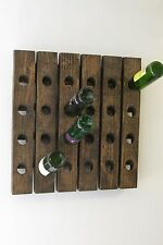 Wine Riddling Rack Distressed Wood Handcrafted in USA