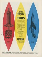 1953 Weston Hydraulics Ad McDonnell F3H-1 Demon Navy Jet Fighter Mid Century
