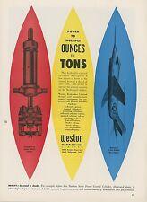 1953 Weston Hydraulics Ad McDonnell F3H-1 Demon Navy Jet Fighter Mid Century