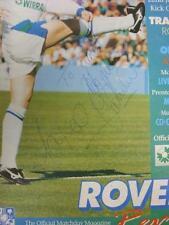 22/01/1995 Tranmere Rovers v Oldham Athletic [Autografiado en línea-ups por cinco Pl