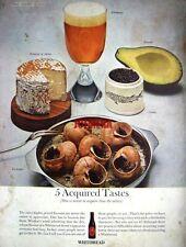 Original 1964 WHITBREAD Beer Advert '5 Acquired Tastes' - Vintage Photo Print AD