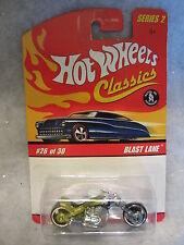 Hotwheels  Blast Lane Motorcycle  Lt/Green  Series 2  #26 of 30  1/64 scale