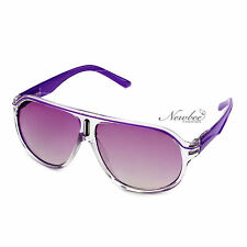 Stylish Carrera Inspired Purple Sunglasses Colored Lenses Spring Hinges