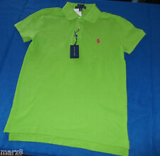 NWT Ralph Lauren Racing Green Classic Fit Cotton Polo shirt Misses Size Large