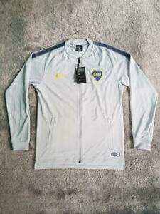 Men's 2017/2018 Nike Boca Juniors CABJ Dry Squad Jacket AA0685-012 Gray sz XL