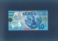 "Samoa 10 Tala 2019 ""XVI PACIFIC GAMES"" Commemorative Polymer note in FOLDER"