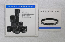 Hasselblad lens and filter literature, set of 2