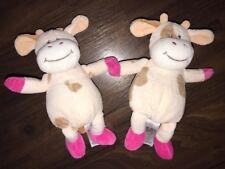 2 Stück- KIK Kuh Kalb Plüschtier Kuscheltier Stofftier rosa Pink Braun Ca. 22cm