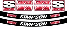 SIMPSON HELMET SUN STRIP STICKER DECAL