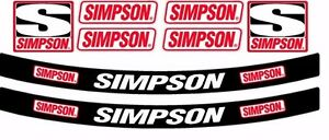 SIMPSON HELMET SUN STRIP STICKER DECAL