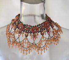 MICHAL NEGRIN VICTORIAN-STYLE FLORAL & TIERED COLLAR NECKLACE